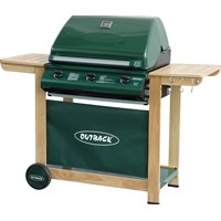 Outback  Hunter Classic 3 Burner Gas BBQ - Green