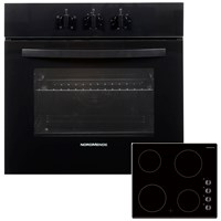 NordMende  Black Single Oven & Ceramic Hob - 60cm