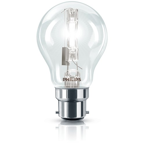Philips EcoClassic B22 Halogen Light Bulb Boxed - 42W